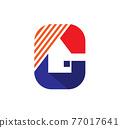 Letter R thunderbolt logo icon symbol vector 77017641