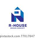 Letter R thunderbolt logo icon symbol vector 77017647