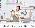 라이프스타일, 주방, 요리, 케익, 여성 77020854