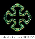 Abstract Cross-Shaped Decorative Ornament 77031855