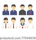 學生 一組 矢量 77040638