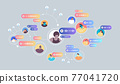 people communicate by voice messages audio chat application social media global communication 77041720