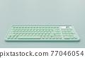 Blue-green pastel keyboard. 77046054