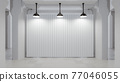 White backdrop in clean white room. 77046055