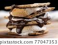 chocolate, choco, marshmallow 77047353