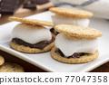 chocolate, choco, marshmallow 77047358