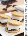 chocolate, choco, marshmallow 77047359