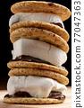 chocolate, choco, marshmallow 77047363