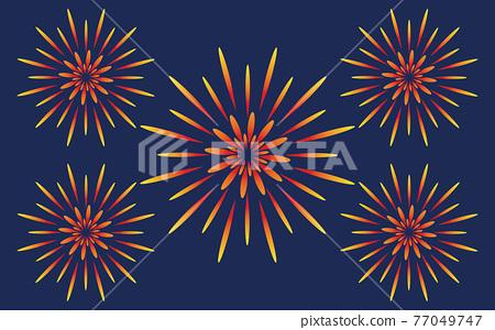 불꽃 놀이, 벡터, 여름 축제 77049747