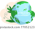 Climate and weather change of planet. Eco friendly, biodiversity, conservation and environmental protection 77052123