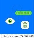 Biometric verification concept illustration 77067709