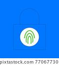 Padlock with biometric fingerprint scanner 77067730