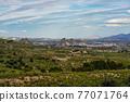 Landscape view near Villanueva del Rio Segura in Valley of Ricote, Murcia Spain 77071764
