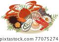 Seafood platter assortment 77075274