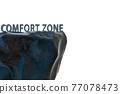 Concept of leaving zone of comfort - 3d rendering 77078473