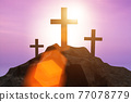 Religious concept with cross against sky 77078779