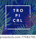 Tropical leaves covers design modern backgrounds. Vector illustration. 77082785