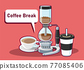 Coffee break of coffee cafe Vector illustration isolated 77085406