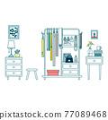 矢量 壁櫥 衣櫥 77089468