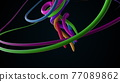 Twisted spirally cables abstract background. 77089862