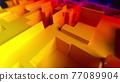 Geometric maze scheme abstract background. 77089904