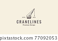 crane construction lines logo symbol icon vector graphic design illustration 77092053