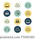 disaster prevention, icon, icons 77095465