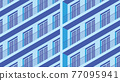Isometric Building Facade Illustration 77095941