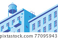 Isometric Building Facade Illustration 77095943