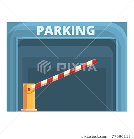Subterranean paid parking icon, cartoon style 77096115
