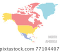 Smooth map of North America continent 77104407