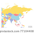 Smooth map of Asia continent 77104408