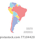 Smooth map of South America continent 77104420