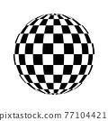Checkered globe in black and white 77104421