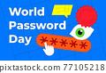 World Password Day illustration 77105218