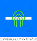 Biometric verification fingerprint 77105219