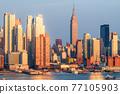 New York, New York, USA Midtown Manhattan skyline on the Hudson River 77105903