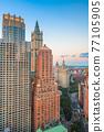 New York City, New York, USA  Skyline overlooking Civic Center 77105905