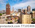 Milwaukee, Wisconsin, USA Downtown Skyline 77105906