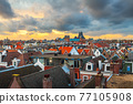 Amsterdam, Netherlands Rooftop View 77105908