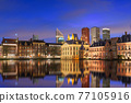 The Hague, Netherlands City Center Skyline 77105916