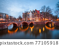 Amsterdam, Netherlands Bridges and Canals 77105918