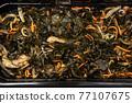 Chuka wakame laminaria seaweed salad with fish 77107675