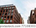 Old Industrial Buildings with Brick Facades in Brooklyn, 77108303