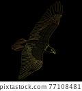 eagle flying over black background 77108481