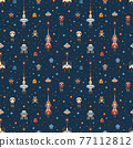 Pixel Art Inter Galactic Adventure Space Pattern 77112812