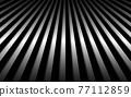 Abstract metal background with black and white vertical lines. Parallel lines and strips. Vector illustration 77112859