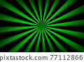 Abstract vector background. Black and green lines. Bright pattern. Simple vector illustration 77112866