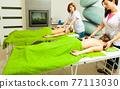 Massage with hot rocks stones in beautician 77113030