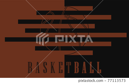 Colored basketball poster 77113573